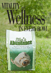 Our dogs eat Life's Abundance Dog Food